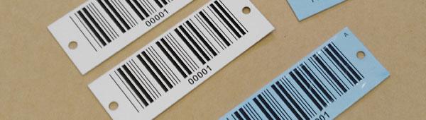 Placas con códigos de barras sobre aluminio anodizado y acero inoxidable