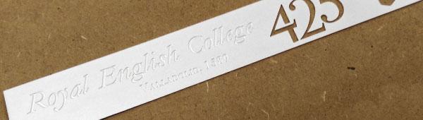 Placas de Latón matizado grabado y corte al ácido